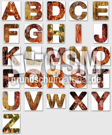 Herbstbuchstaben1alle  Herbstbuchstaben 1  DEKO