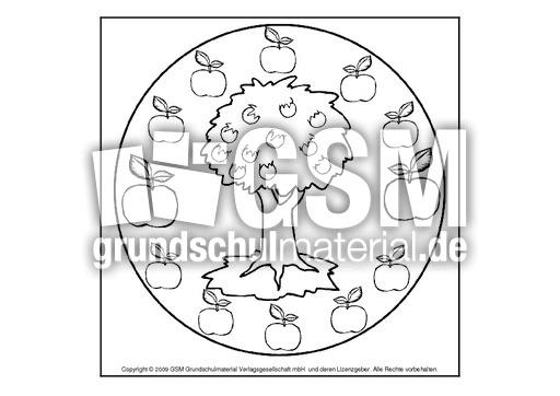 Apfelbaum Mandala Herbst Mandalas Herbst Jahreszeiten Hus