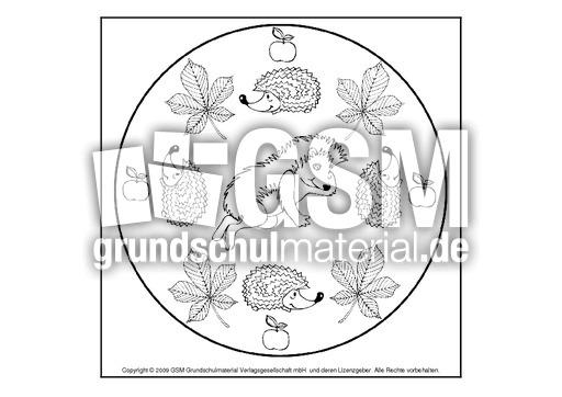 igelmandala2  herbst  mandalas  herbst  jahreszeiten