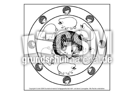 igelmandala5  herbst  mandalas  herbst  jahreszeiten