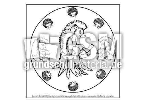 mandala ausmalbilder herbst igel  malvorlagen