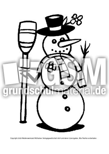 ausmalbildschneemann1  ausmalbilder  winter