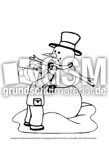 ausmalbildschneemann5  ausmalbilder  winter