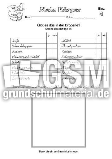 Arbeitsblatt 04 - Arbeitsblätter - Menschlicher-Körper - HuS Klasse ...