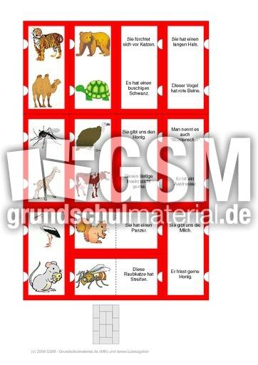 Tierru00e4tsel_2_12_03 - Domino Tierru00e4tsel 2 - Tiere - HuS Klasse 1 - Grundschulmaterial.de