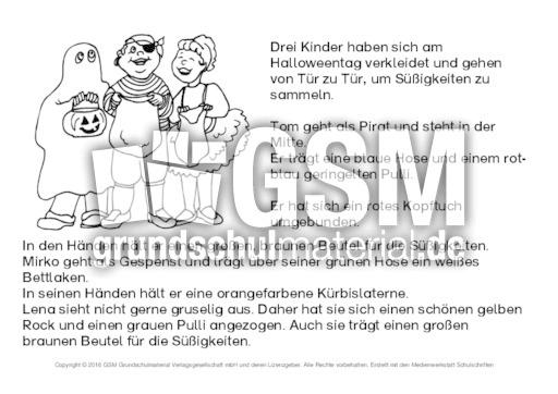 Halloween-Lese-Mal-Blatt 5 - Lese-Mal-Blätter - Halloween - Feste ...