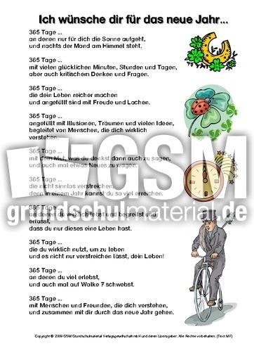 Ich-wünsche-dir-für-das-neue-Jahr-Schmuckblatt - Silvester-Neujahr ...