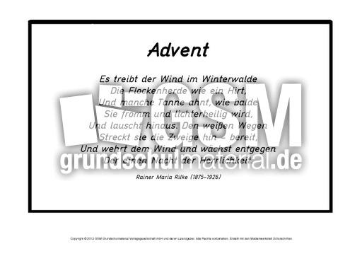 Mini-Buch-Advent-Rilke-1-4 - Mini-Bücher-klassische-Gedichte ...