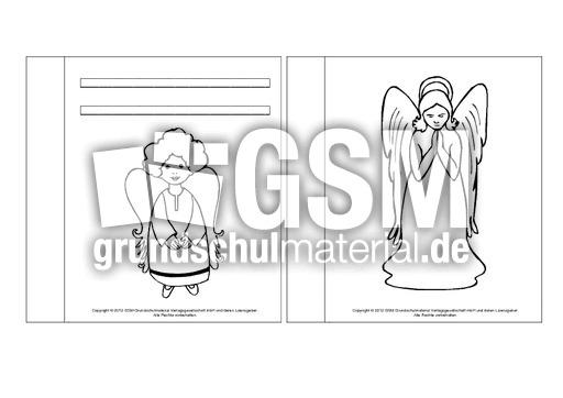 Mini-Buch-Ausmalbilder-Engel-1-7 - Mini-Bu00fccher ...