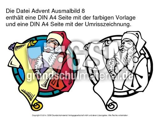 adventausmalbild8  ausmalbilder adventszeit