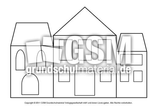Fensterbild-Transparentpapier-Hu00e4user 5 - Fensterschmuck ...