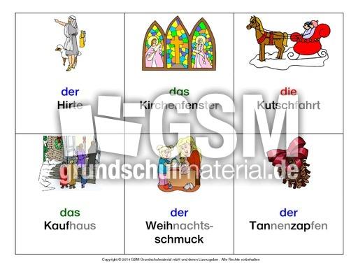 Advent-Bild-Wort-Karten-in-Silben - Bild-Wort-Karten in Silben ...