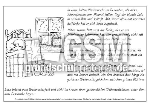 Lesen-und-malen-Weihnachten-6 - lesen und malen - Lese-Mal-Blätter ...