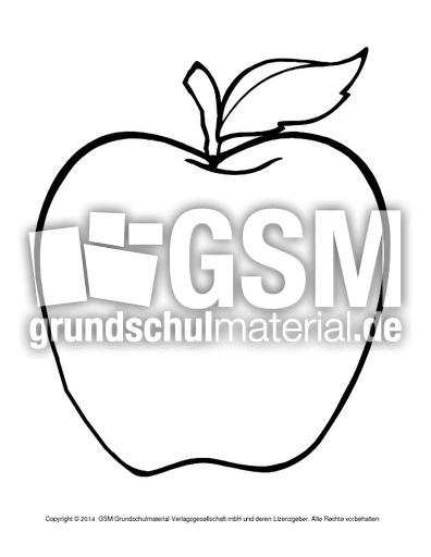 Apfel Zum Ausschneiden Ausschneidemotive Herbst Herbst