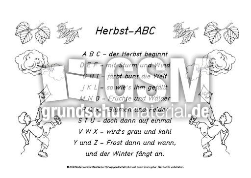 Herbst Abc Sw Gedichte Herbst Jahreszeiten Hus