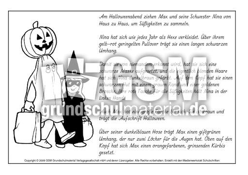 Lesen-und-malen-Halloween-1-4 - Lese-Mal-Blätter - Herbst ...