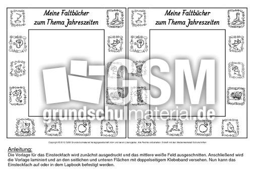 Jahreszeiten Arbeitsblatt Klasse 1 : Fach faltbücher jahreszeiten sw