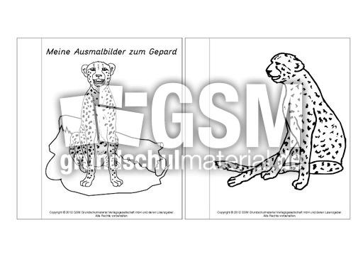minibuchausmalbildergepard14  lapbook  gepard