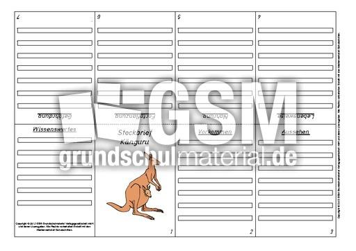 arbeitsblatt vorschule 187 k228nguru steckbrief entwurf