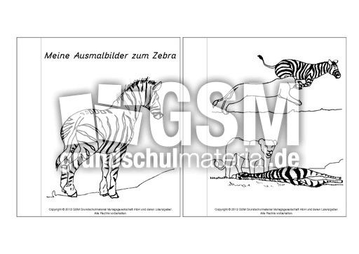 Mini Buch Ausmalbilder Zebra Lapbook Zebra Lapbooks Tiere