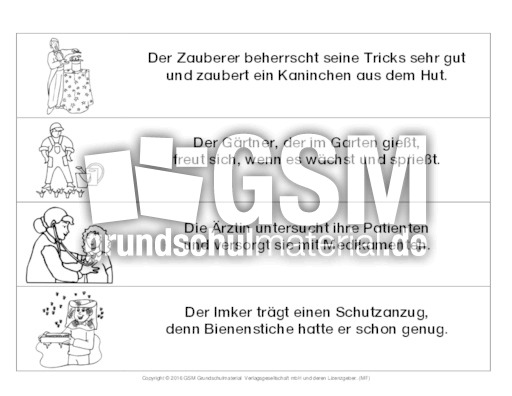 AB-Berufe-Reime-lesen - Arbeitsblätter-Berufe - Berufe-Werkstatt ...