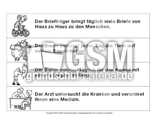 AB-Berufe-Sätze-in-Silben-lesen - Arbeitsblätter-Berufe - Berufe ...