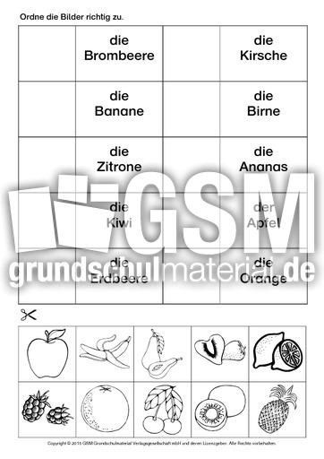 AB-Obst-zuordnen-1 - Arbeitsblätter - Obst - Gemüse - Ernährung ...
