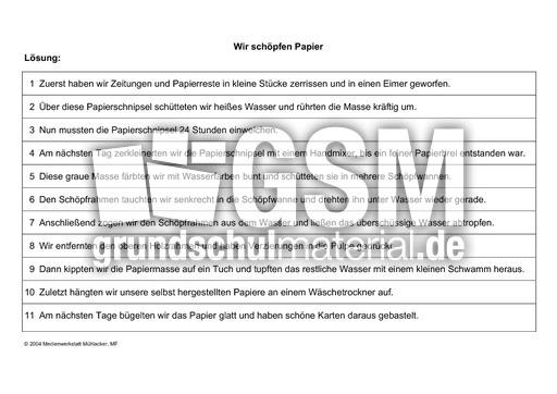 vorgangsbeschreibung papier sch246pfen umwelt