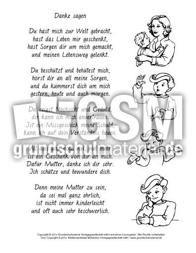 Danke Sagen Muttertag Sw Muttertagsgedichte Gedichte Zum