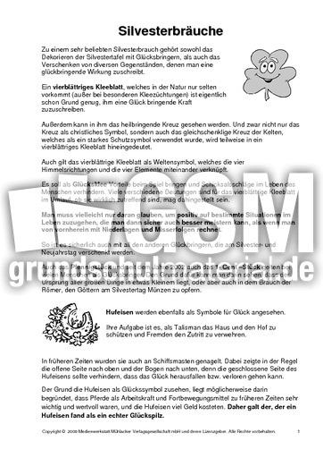 Silvesterbräuche Texte Und Gedichte Silvester Neujahr