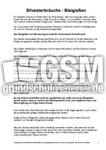 silvesterbräuche2  texte und gedichte  silvester