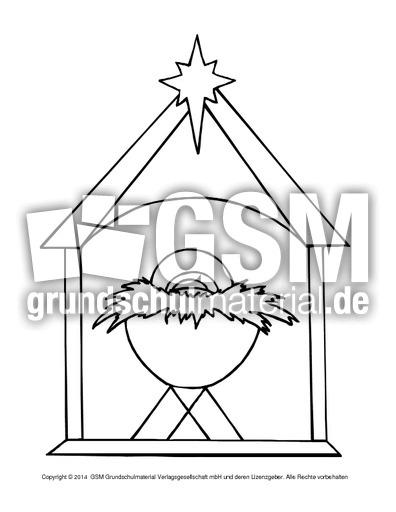 Ausmalbild-Krippe-3 - religiöse Motive - Ausmalbilder - Weihnachten ...