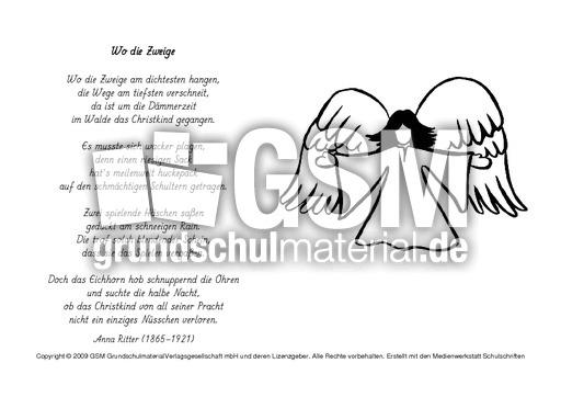 A Wo Die Zweige Ritter Ausmalbilder Weihnachtsgedichte Werkstatt