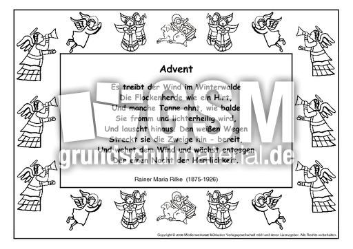 Advent Rilke Gedichte Im Schmuckrahmen Werkstatt