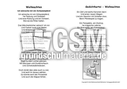 Schaukelpferd Seidel Gedichtekartei Werkstatt