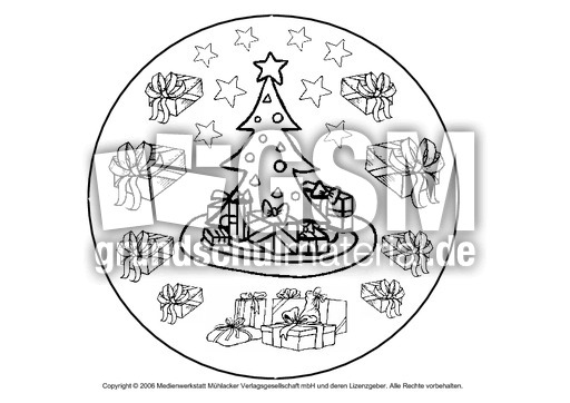 weihnachts mandala 11 mandalas weihnachten feste. Black Bedroom Furniture Sets. Home Design Ideas