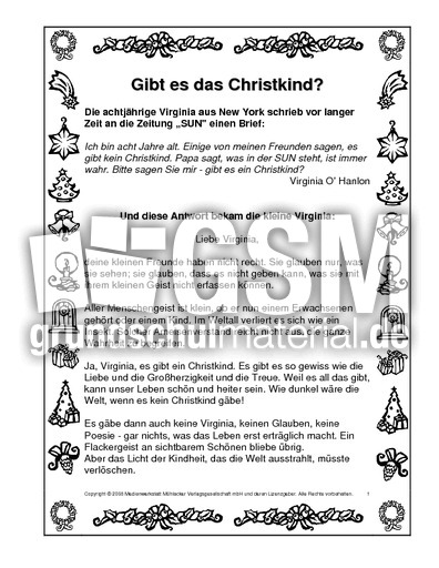gibt es das christkind texte weihnachten feste. Black Bedroom Furniture Sets. Home Design Ideas