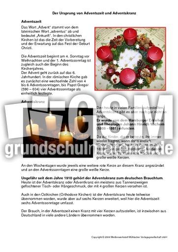 Ursprung Von Adventszeit Und Adventskranz Texte Weihnachten