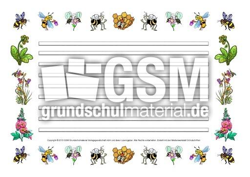 Arbeitsblatt Biene Klasse 1 : Schmuckblatt biene schmuckblätter honigbiene