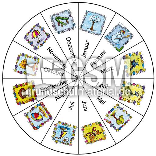 jahreskreismonate1  abbildungen  jahreszeiten  hus