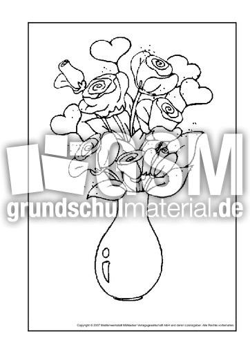 Blumenstrauß 1 Ausmalbilder Blumen Frühling Jahreszeiten Hus