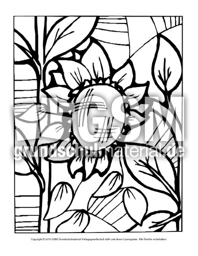 Ausmalbild Blumen Mosaik 2 Ausmalbilder Mosaik Blumen Frühling