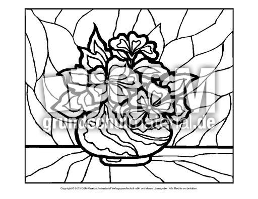 Ausmalbild Blumen Mosaik 20 Ausmalbilder Mosaik Blumen Frühling