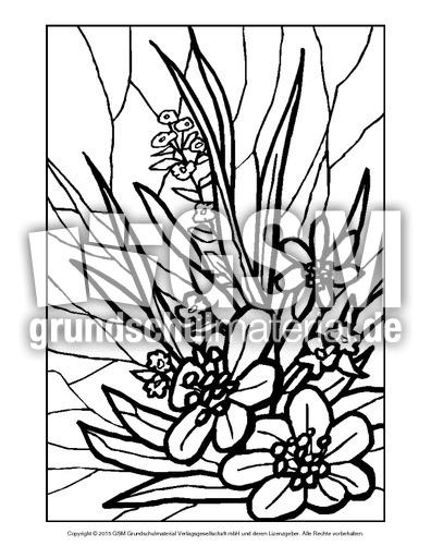 Ausmalbild Blumen Mosaik 7 Ausmalbilder Mosaik Blumen Frühling