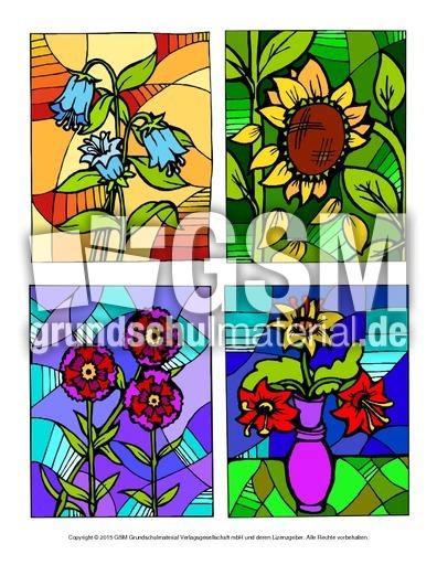 High Quality Ausmalbild Blumen Mosaik Beispiele.pdf