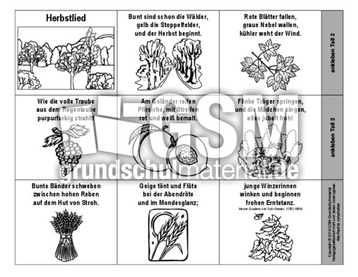 Leporello Herbstlied Salis Seewis Sw Lapbook Herbstgedichte