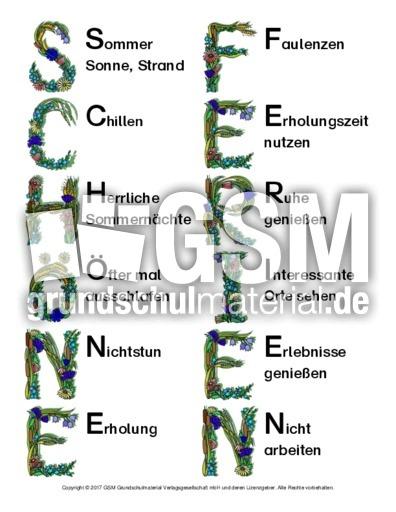Akrostichon-Schöne-Ferien-2 - Sommer - Jahreszeiten - HuS Klasse 3 ...