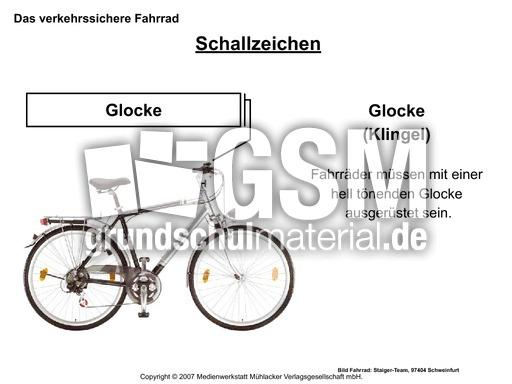 verkehrssicheres fahrrad folienpr sentation arbeitsbl tter das verkehrssichere fahrrad. Black Bedroom Furniture Sets. Home Design Ideas