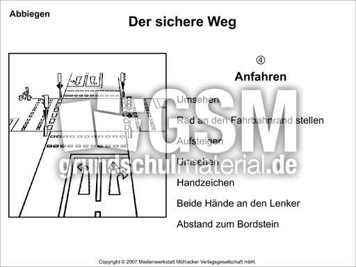 linksabbiegen der sichere weg pr sentationen folien verkehrserziehung sachthemen hus. Black Bedroom Furniture Sets. Home Design Ideas