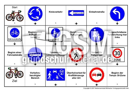 Verkehrszeichen-Domino-5 - Verkehrszeichen-Domino - Spiele ...